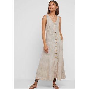 MNG by Mango Striped Linen Dress